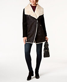 Calvin Klein Faux-Fur-Lined Coat
