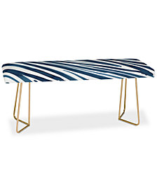 Deny Designs Elena Blanco Blue Flow Bench