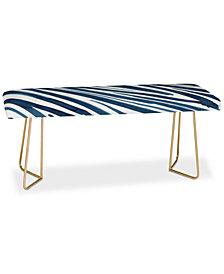 Deny Designs Elena Blanco Blue Flow Bench