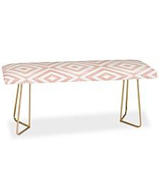Little Arrow Design Co Watercolor Diamonds in Pink Bench