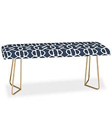 Deny Designs Caroline Okun Dark Linen Trellis Bench