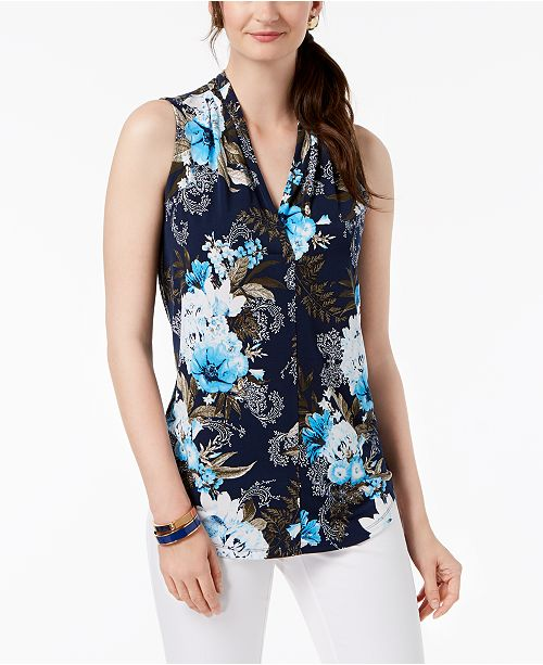 Printed Sleeveless Top, Created for Macy's