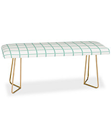 Deny Designs Little Arrow Design Co Mint Grid Bench