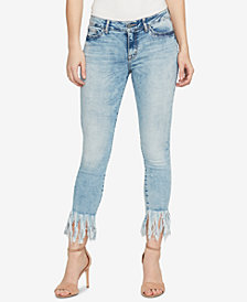 WILLIAM RAST Mid Rise Kick-Flare Skinny Jeans