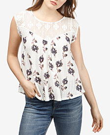 Lucky Brand Lace-Detail Sleeveless Top