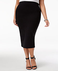 Rebdolls Plus Size Pencil Skirt from The Workshop at Macy's