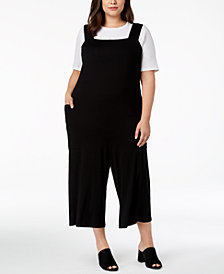 Eileen Fisher Plus Size Cropped Jumpuit