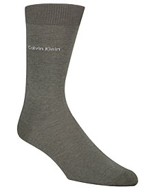 Calvin Klein Men's Socks, Giza Cotton Flat Knit Crew