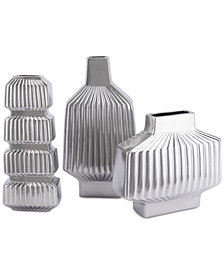 Zuo Tower Matte Silver-Tone Vase Collection