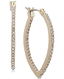 lonna & lilly Gold-Tone Crystal Pointed Hoop Earrings