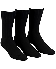 Men's 3-Pack Soft Touch Ribbed Socks