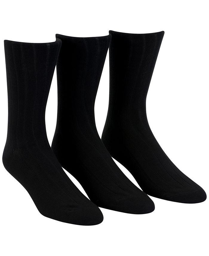 Calvin Klein - Men's 3-Pack Soft Touch Ribbed Socks