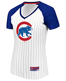 Majestic Women's Chicago Cubs Every Aspect Pinstripe T-Shirt