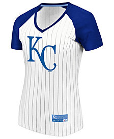 Majestic Women's Kansas City Royals Every Aspect Pinstripe T-Shirt