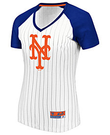 Majestic Women's New York Mets Every Aspect Pinstripe T-Shirt