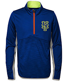 Outerstuff New York Mets Excellence Quarter-Zip Pullover, Big Boys (8-20)