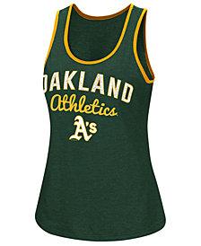 G-III Sports Women's Oakland Athletics Power Punch Glitter Tank