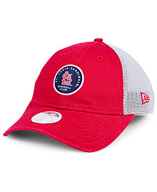 New Era Women's St. Louis Cardinals Washed Trucker 9TWENTY Cap