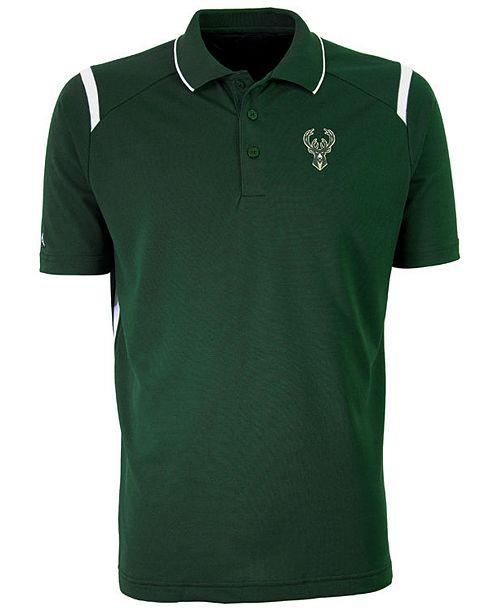 Antigua Men s Milwaukee Bucks Merit Polo Shirt - Sports Fan Shop By ... b2d481349