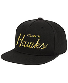 Mitchell & Ness Atlanta Hawks Metallic Tempered Snapback Cap