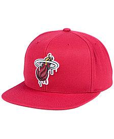 Mitchell & Ness Miami Heat Dripped Snapback Cap