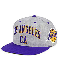 Mitchell & Ness Los Angeles Lakers Side Panel Cropped Snapback Cap