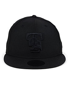New Era Texas Rangers Blackout 59Fifty Fitted Cap