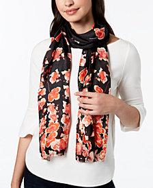 Calvin Klein Floral Silk Mesh Scarf