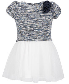 Blueberi Boulevard Toddler Girls Marled Sweater Bodice Dress
