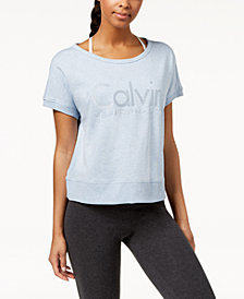 Calvin Klein Performance Open-Back Cropped T-Shirt