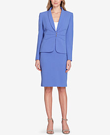 Tahari ASL Pintucked Skirt Suit, Regular & Petite