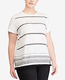 Lauren Ralph Lauren Plus Size Striped T-Shirt
