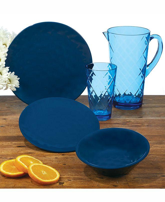 Certified International Cobalt Blue Melamine Dinnerware
