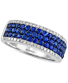 Final Call by EFFY® Sapphire (1-1/8 ct. t.w.) & Diamond (1/4 ct. t.w.) Ring in 14k White Gold