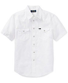 Polo Ralph Lauren Short-Sleeve Western Shirt, Big Boys