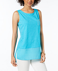 Tommy Hilfiger Cotton Pocket Tank Top, Created for Macy's