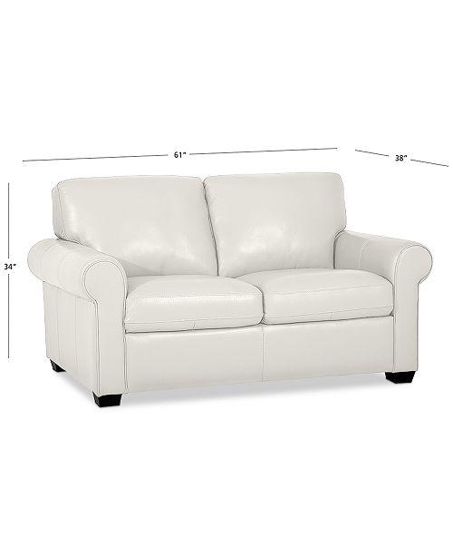 Furniture Orid 59 Leather Loveseat