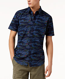 American Rag Men's Tiger Camo Denim Shirt, Created for Macy's
