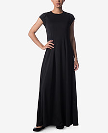 Verona Collection Cap-Sleeve Maxi Dress