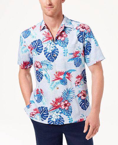 Tommy Bahama Men's Casa Rosa Silk Camp Shirt