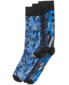 Men's Big & Tall 3-Pk. Printed Dress Socks