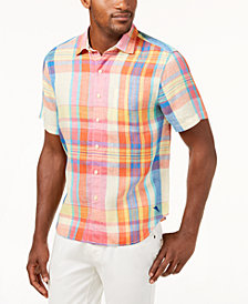 Tommy Bahama Men's Brillante Plaid Linen Shirt