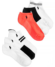 Polo Ralph Lauren Women's 6-Pk. Stripe Assorted Low-Cut Socks
