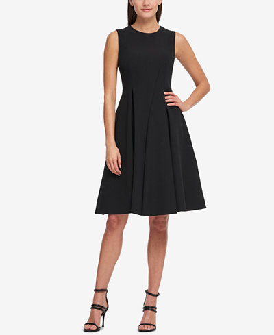 DKNY Sleeveless Pleated Fit & Flare Dress, Created for Macy's
