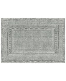 Jean Pierre Cotton Stonewash Racetrack 17x24 Bath Rug