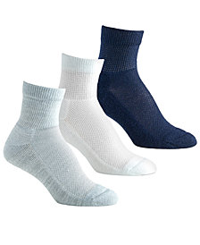 Berkshire Women's 3-Pk. Diabetic Comfort Quarter Socks 5114