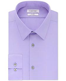 Calvin Klein Men's STEEL Slim-Fit Non-Iron Performance Perfect Collar Solid