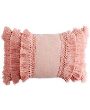 "Image of Peri Home 12"" x 18"" Fringe Decorative Pillow Bedding"