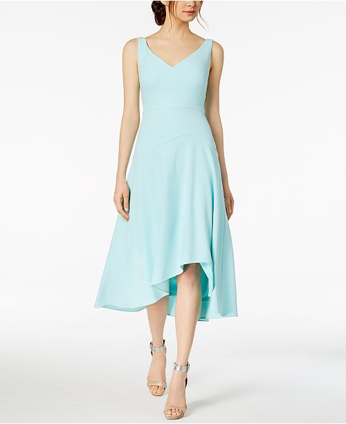 58f1a66163de Calvin Klein Sweetheart High-Low Midi Dress   Reviews - Dresses ...