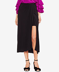 Vince Camuto Twist-Front Midi Skirt